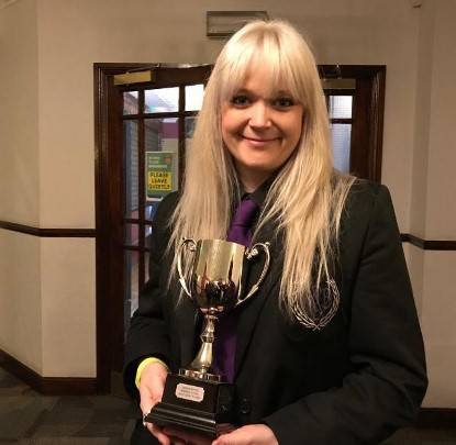 Sara-Jane Wallbridge, from the Wantage band, with the 'best instrumentalist' award won at the 2018 Welsh Open Contest. Picture: Sara Jane Wallbridge