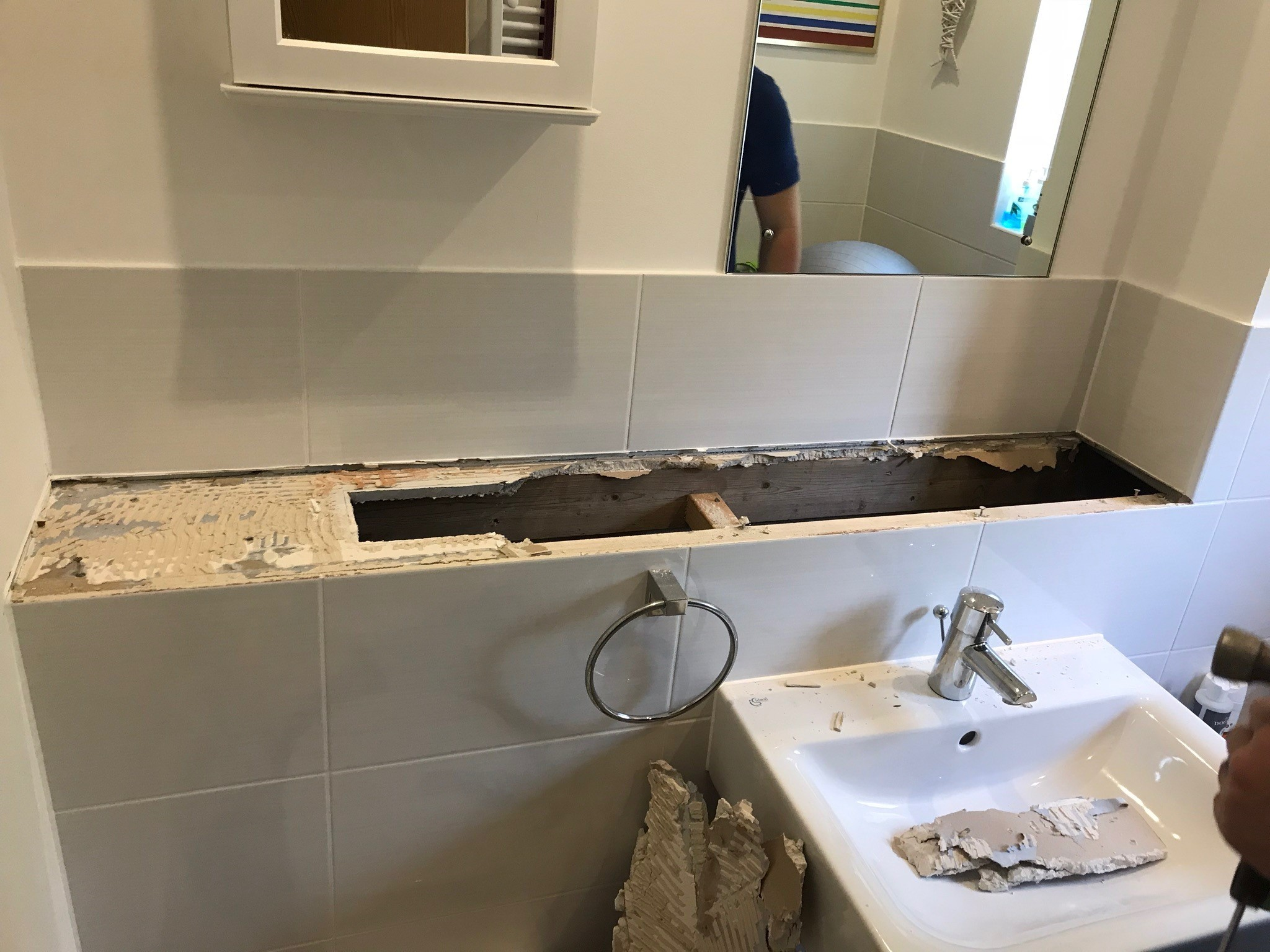 A bathroom leak in one house in Cholsey Meadows created damp in the living room ceiling. Picture: Mike Lowery