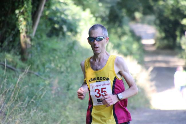 Abingdon's Sebastien Garrigues during the Adderbury Half Picture: Barry Cornelius