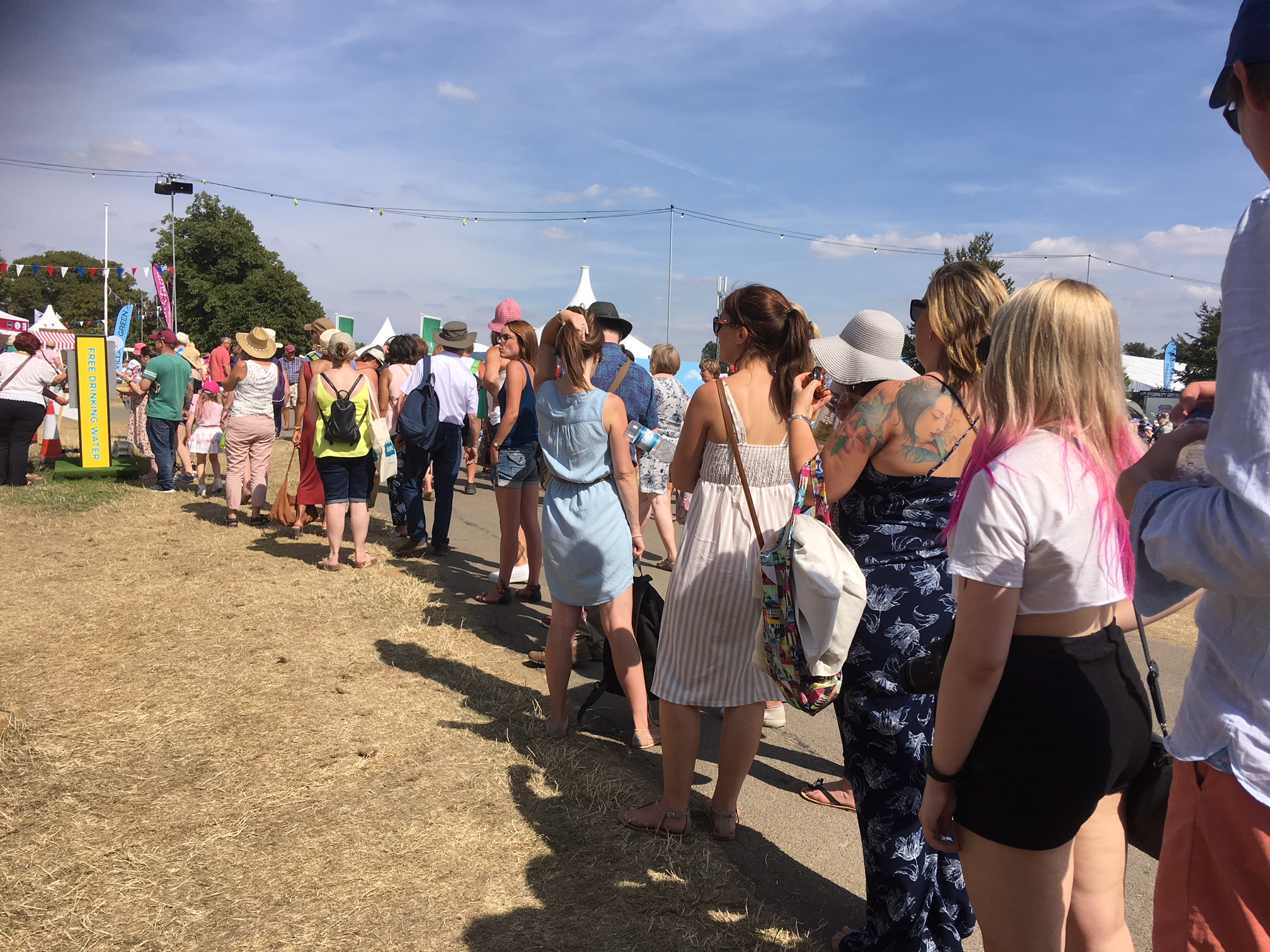 PARCHED: Long queues for water at Countryfile Live