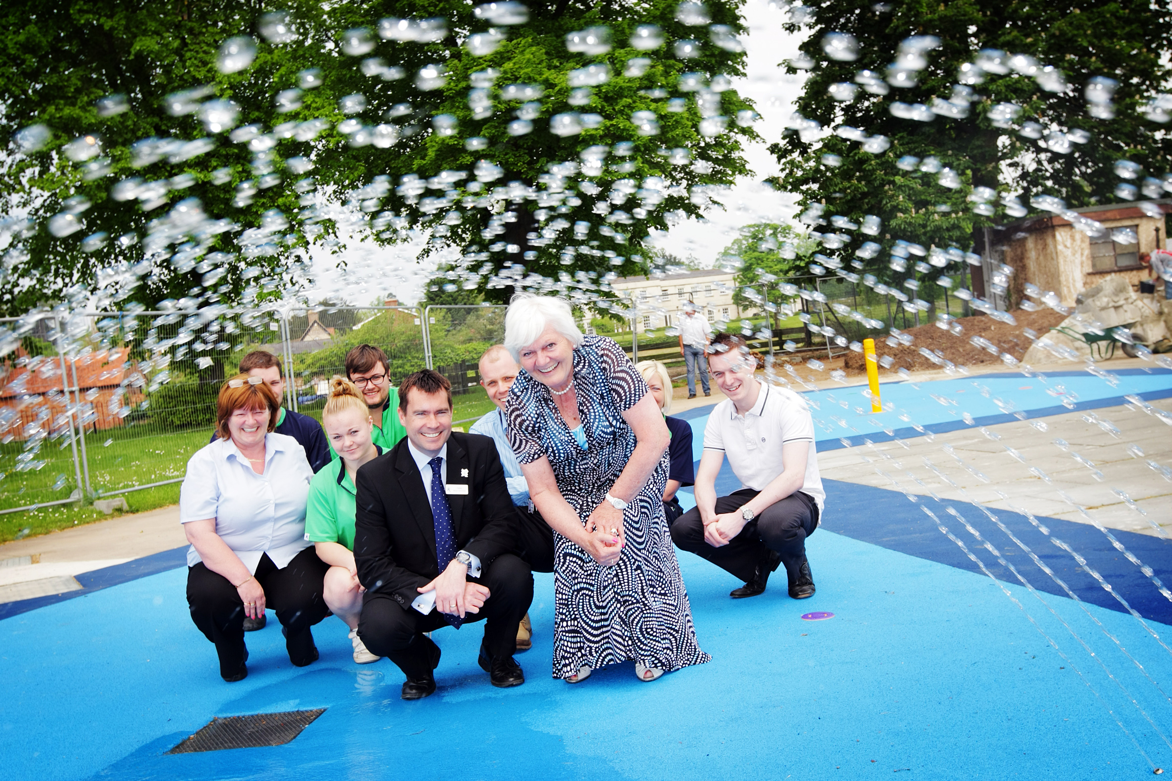 Staff at Jubilee Splash Park in 2012. Pic: Damian Halliwell