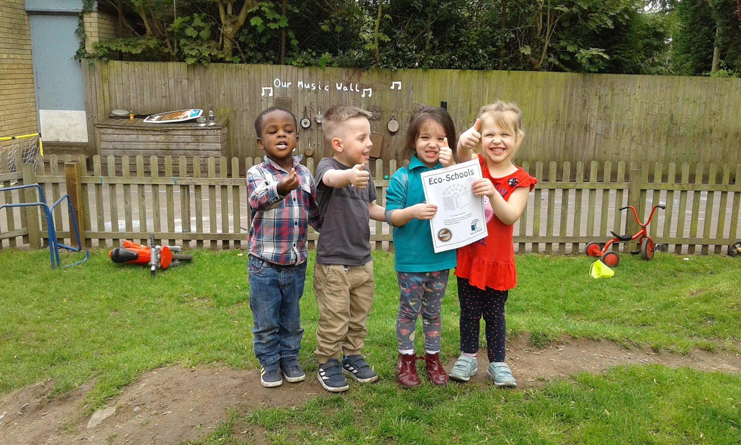 Youngsters celebrate eco-school status