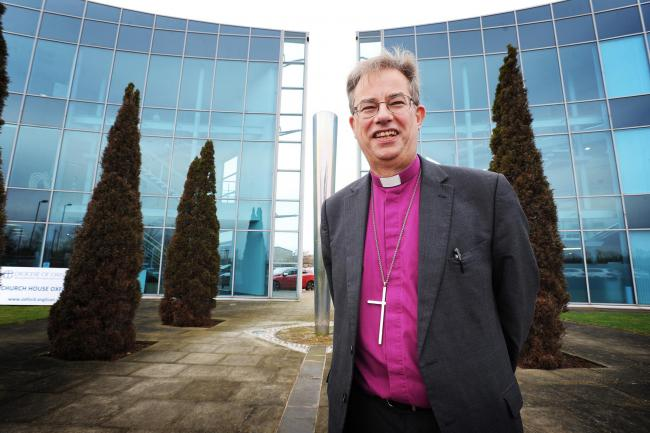 Bishop of Oxford, Revd. Dr. Steven Croft. Pictured at Church House in Oxford. Pic: Jon Lewis