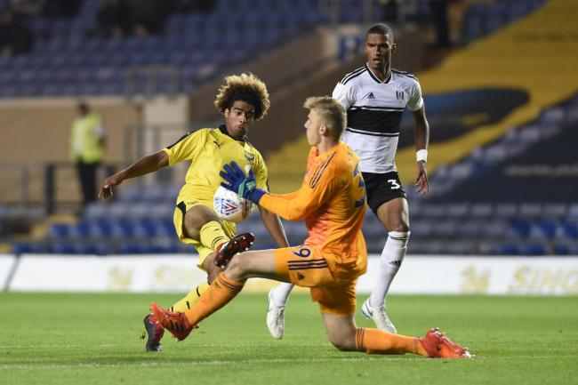 Fabio Lopes in action against Fulham Under 21s in last season's competition  Picture: David Fleming