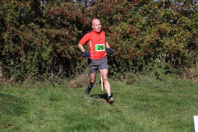 Abingdon's John Harvey at the Ascott-under-Wychwood Charity 10k Picture: Barry Cornelius