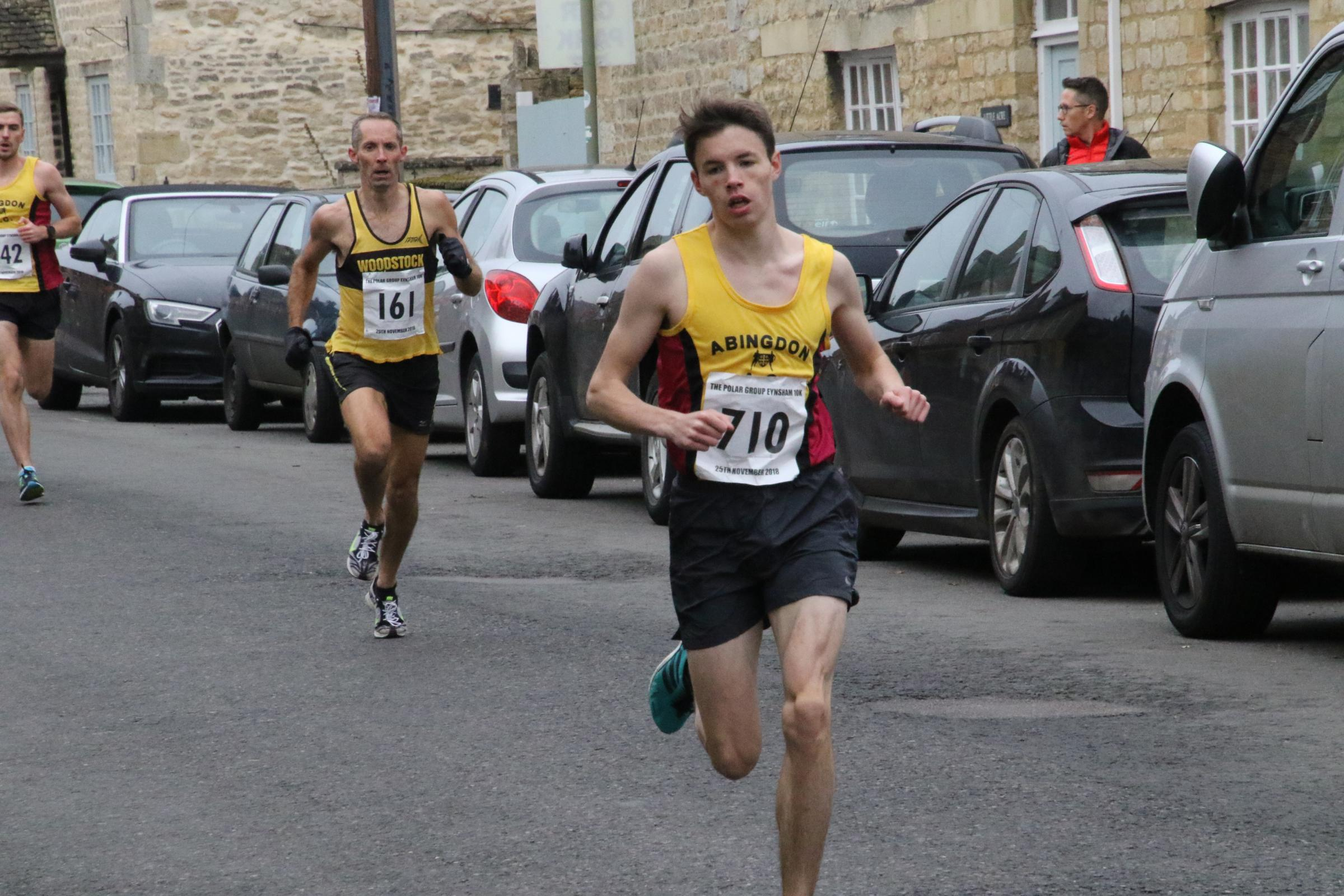 Calum Steer in action at the Eynsham 10k Picture: Barry Cornelius