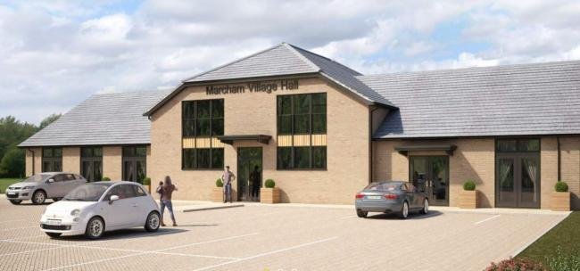 Marcham Village Hall artist's impression. Picture. Thomas Homes