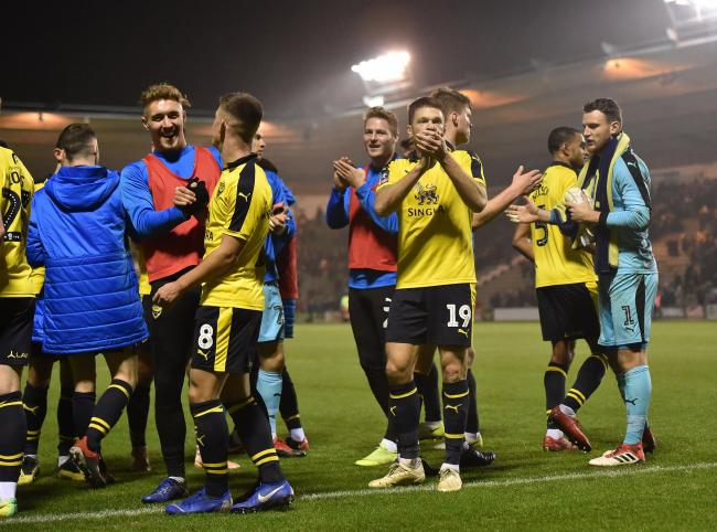 Oxford United's players celebrate their win over Plymouth Argyle in the second round of the FA Cup Picture: Photo: Sean Hernon/PPAUK.