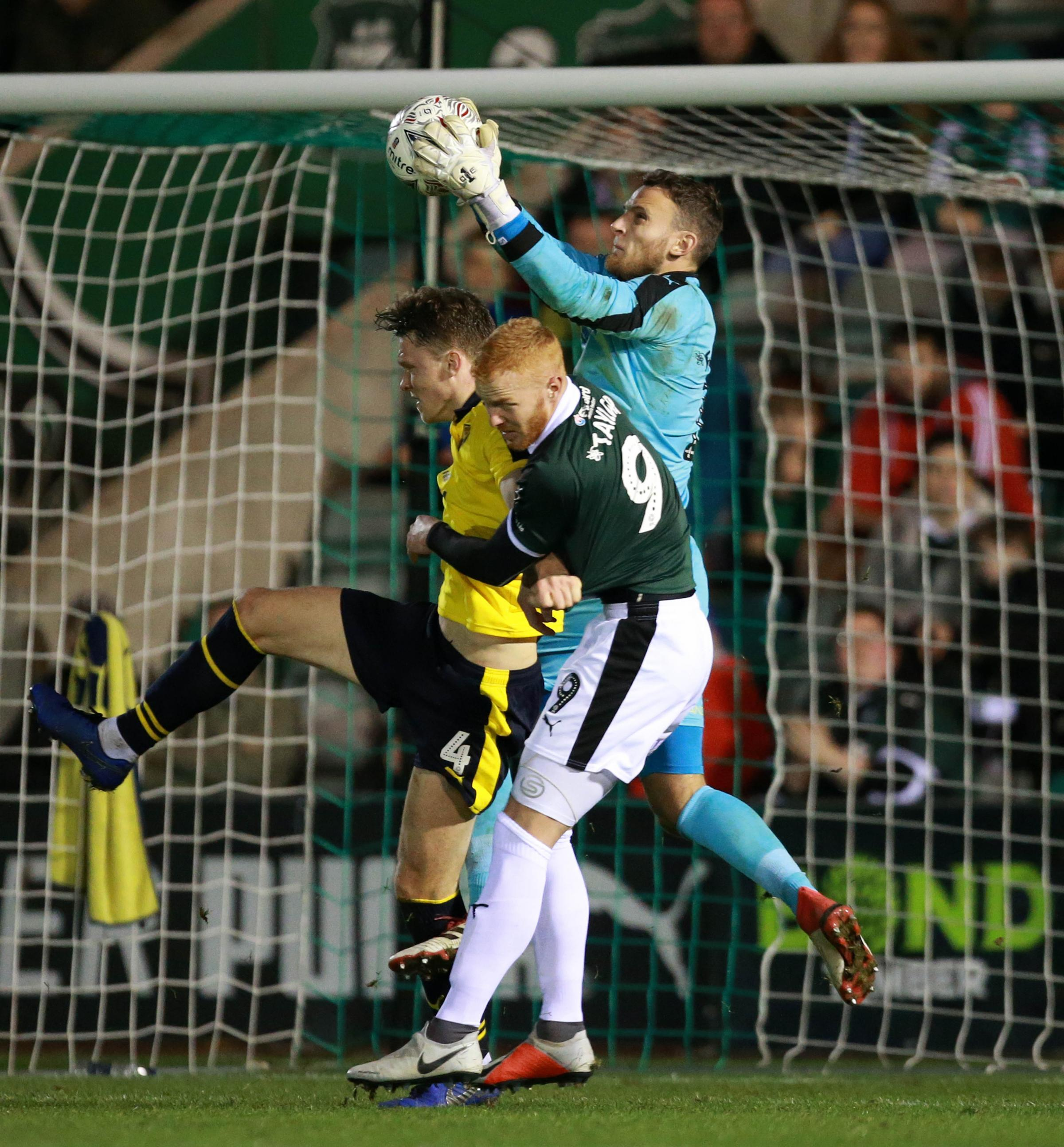 Simon Eastwood claims a cross in the victory at Plymouth, where the goalkeeper put the midweek mistakes against Rochdale behind him  Picture: Dave Rowntree/PPAUK