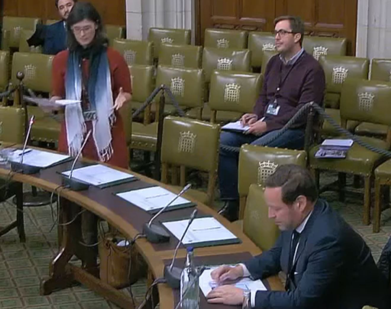 Layla Moran and Ed Vaizey at a parliamentary debate on the reservoir. Picture: Parliament.uk