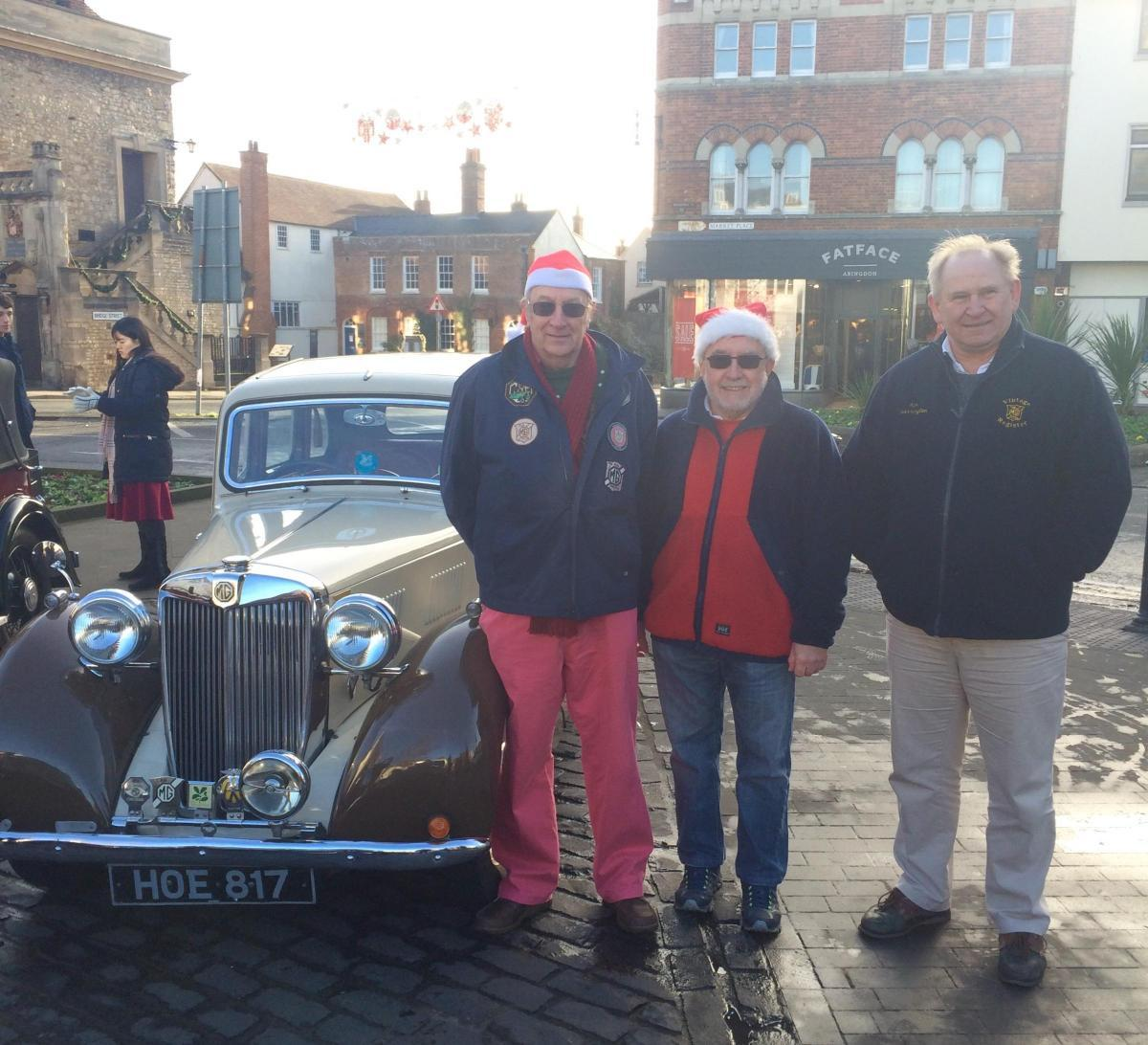 Event founder John Harris, organiser Richard Martin and MG Car Club chairman Ian Quarrington in 2016.