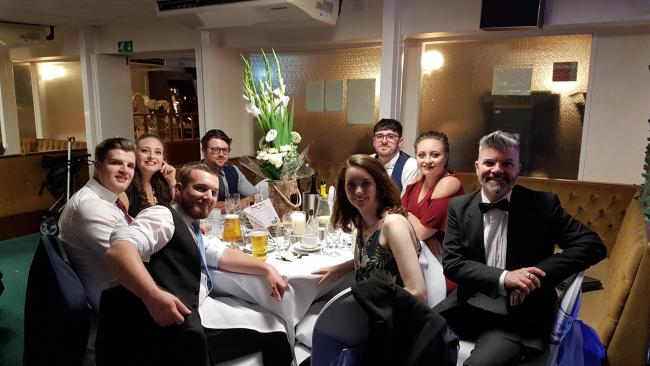 Some of the local Specsavers team at the ball, which celebrated fundraising for Wantage's October Club. Picture: Specsavers