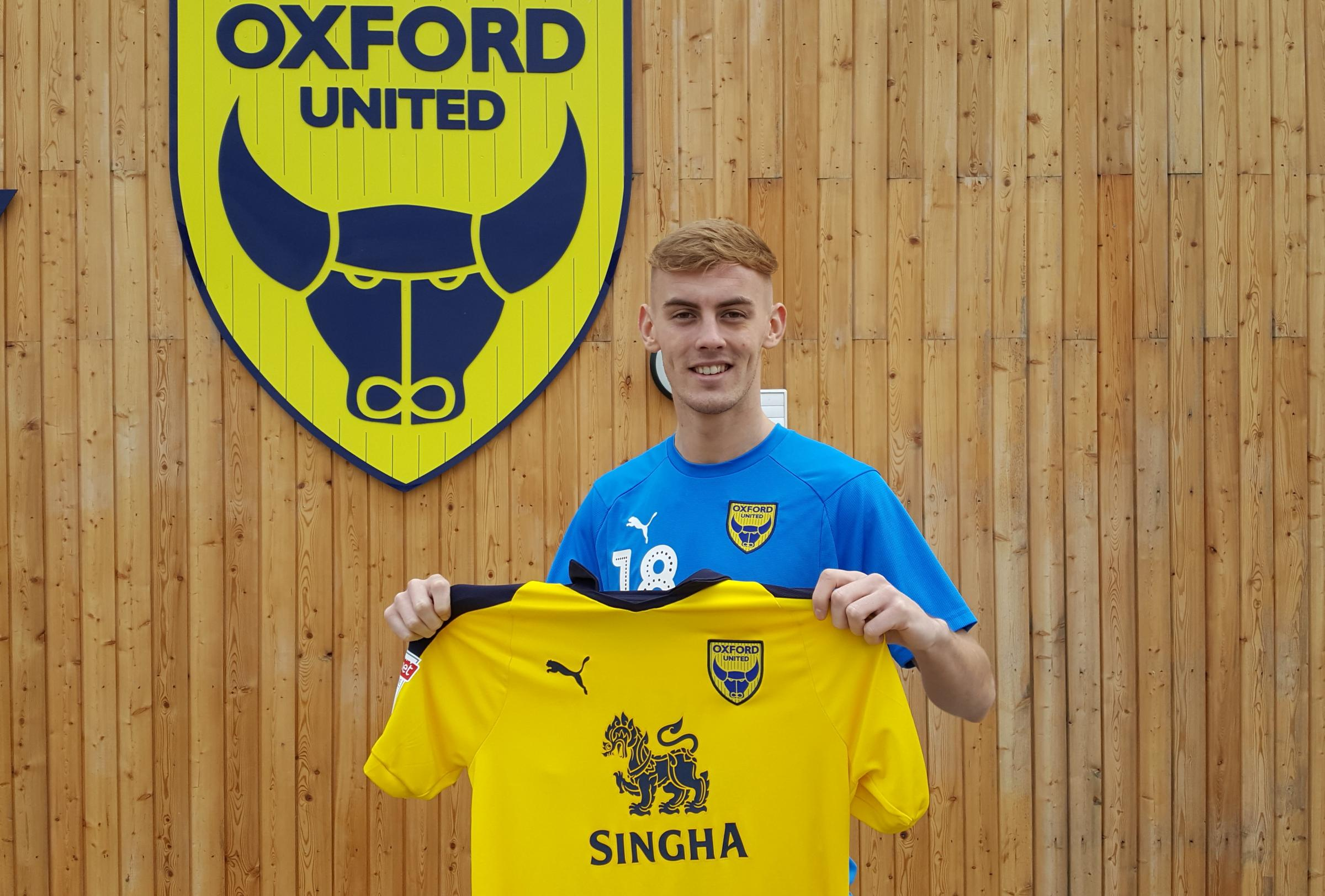 Mark Sykes at Oxford United's training ground this afternoon