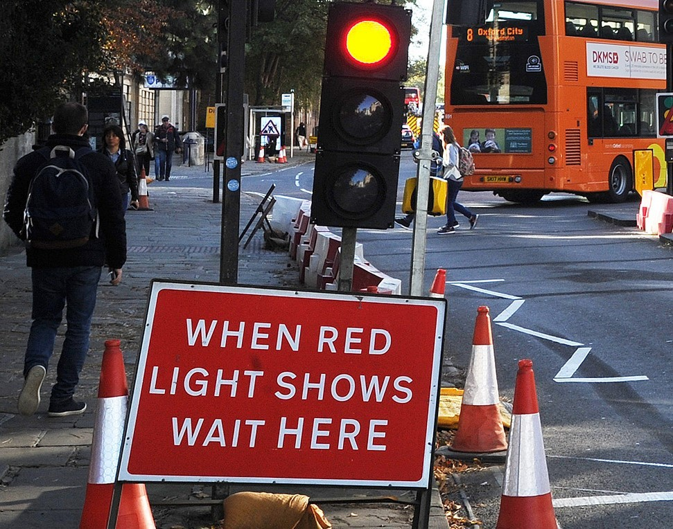 Previous roadwork signs in Oxford. Pic: Jon Lewis