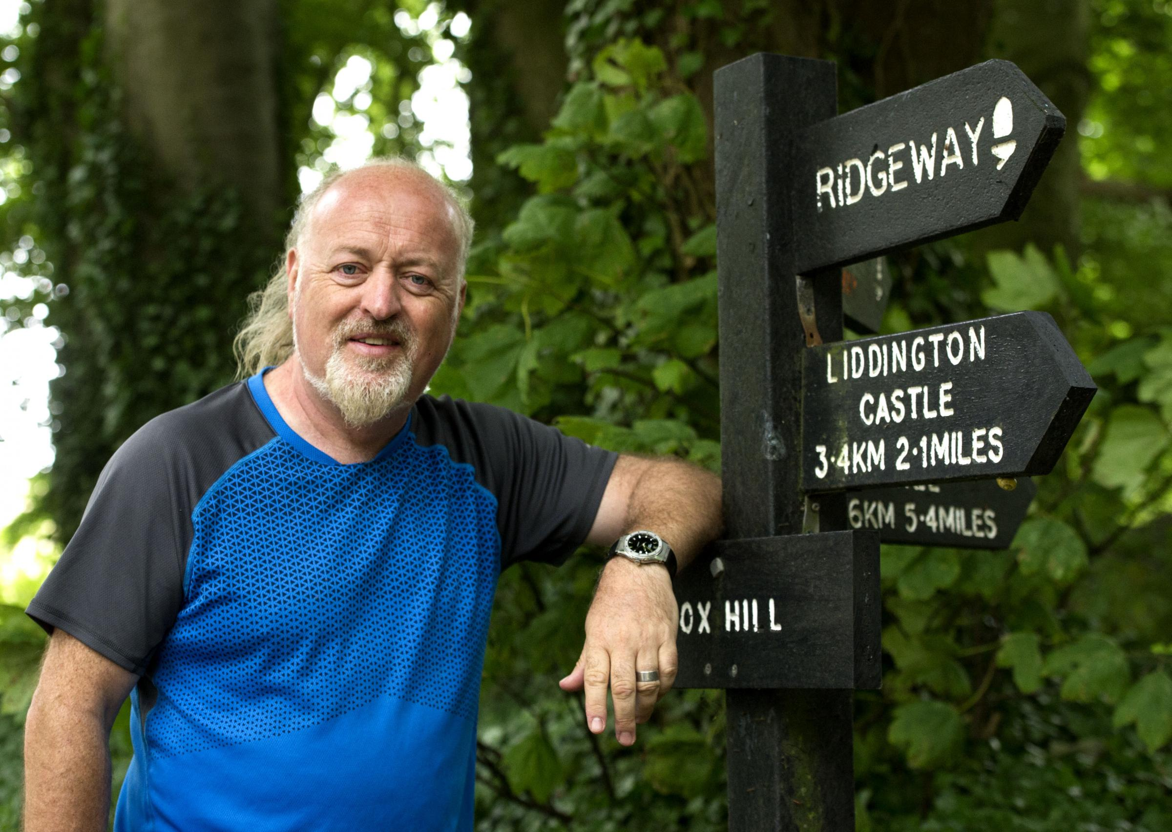 File photo of comedian Bill Bailey walking the Ridgeway for Cancer Research UK in July 2017. Picture: Dave Cox
