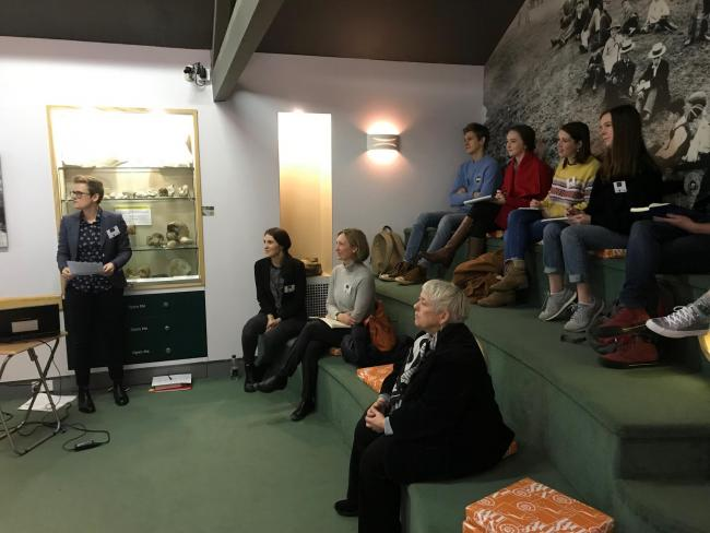 Sixth form students at the Vale and Downland Museum for an educational day on the 18th Century