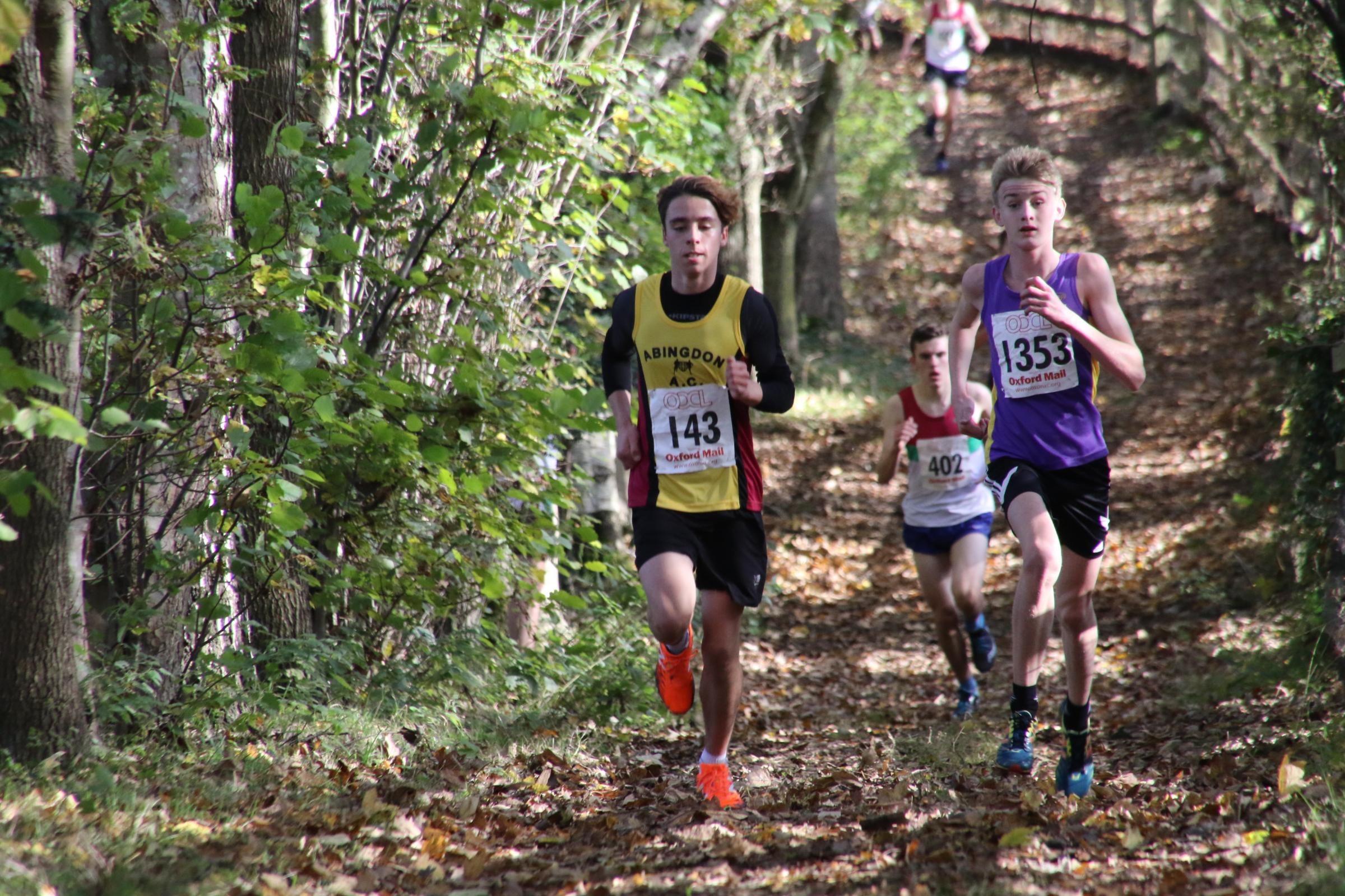 Abingdon's Adam Ede finished ninth in the under 17 men's race during the third round of the Chiltern Cross Country League Picture: Barry Cornelius