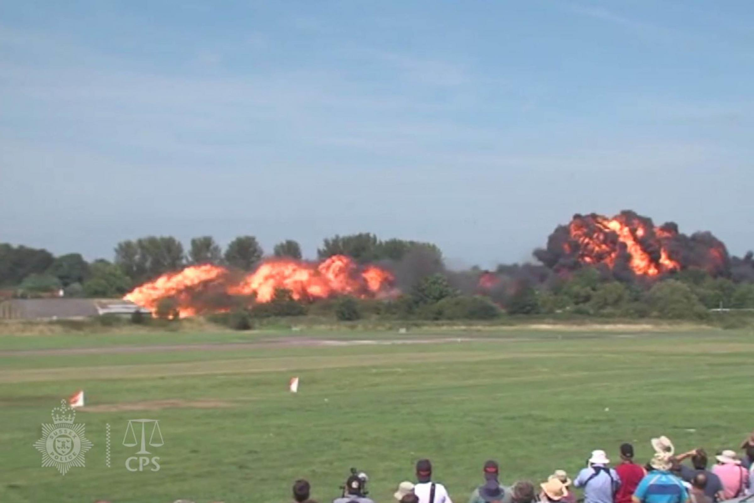 The crash during the Shoreham Airshow on August 22 2015