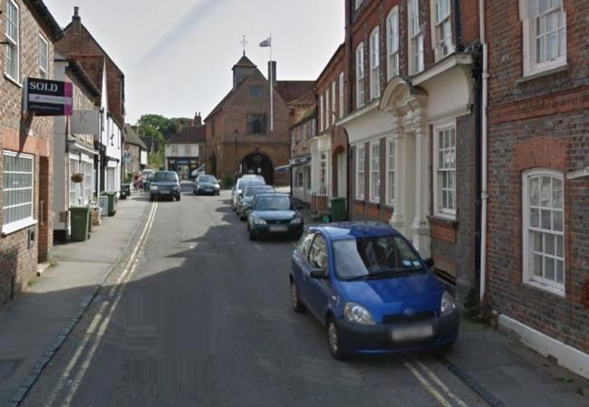A car parked on double yellow lines in Watlington High Street. Pic: Google Maps