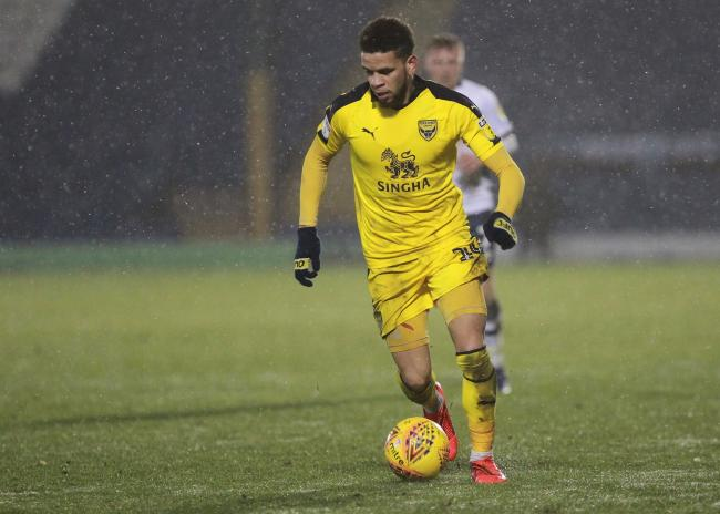 Marcus Browne's last appearance for Oxford United came at Bury in the Checkatrade Trophy last month  Picture: Richard Parkes