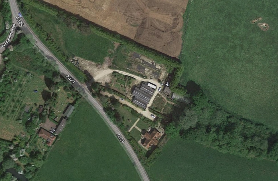 The former Newington Nurseries site near Stadhampton, South Oxfordshire. Picture: Google Maps