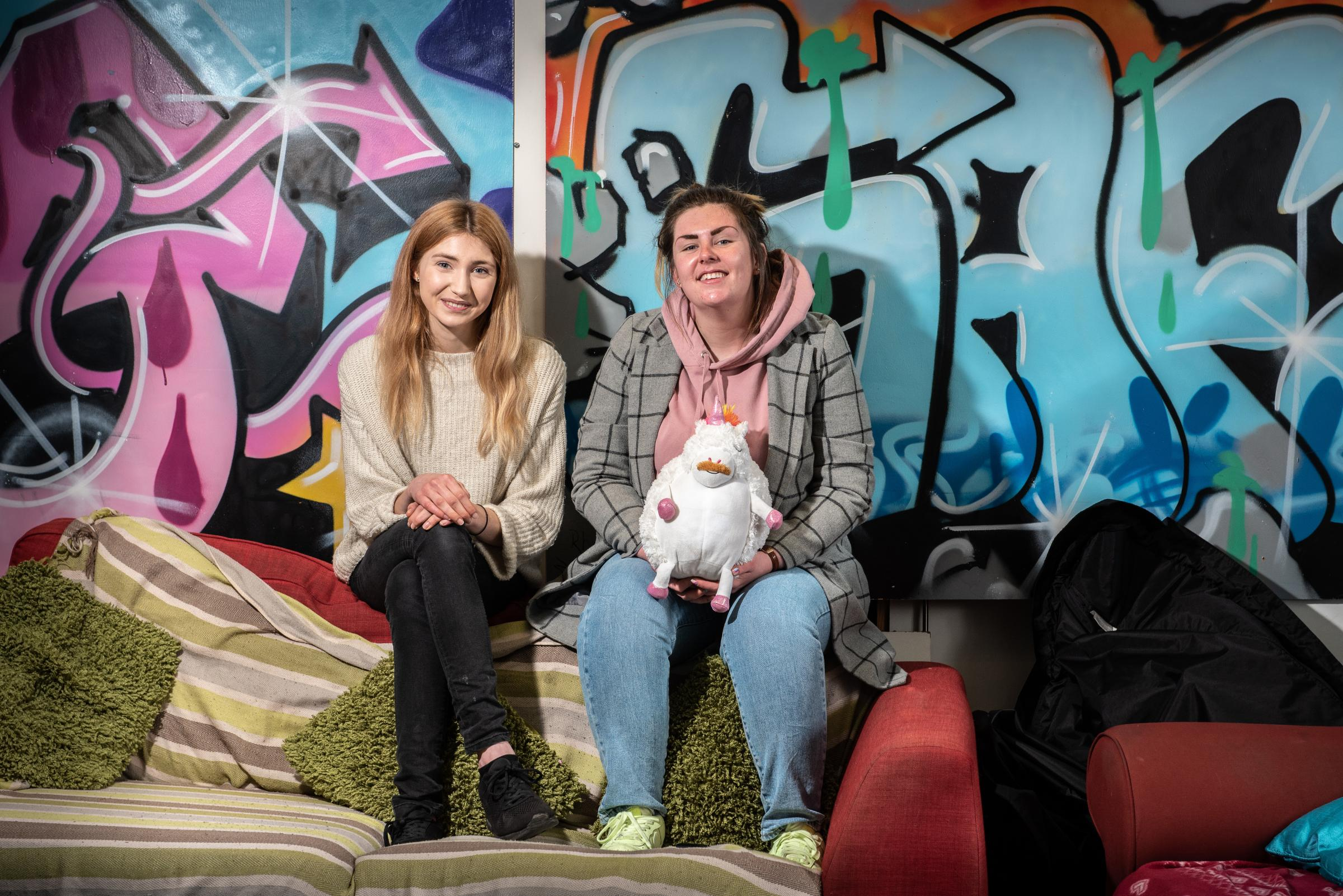 Charlotte Jenkins and Holly Freeland of Train in Didcot determined to stay positive after the charity was burgled. Picture: Richard Cave