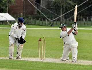 Oxford Downs' Wesley Bartlett is bowled by Banbury Twenty's James Soppet