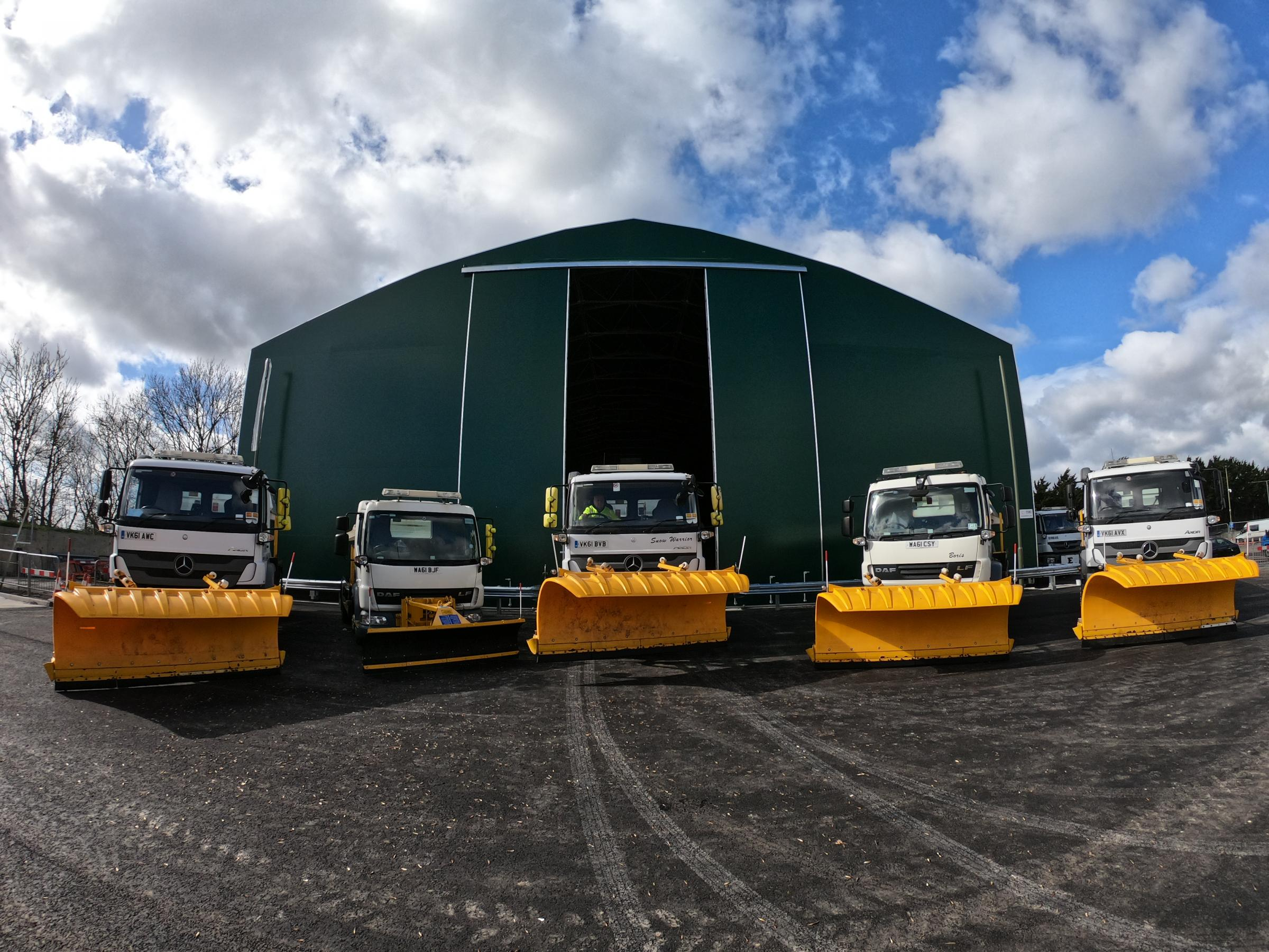 The new gritting barn in Drayton. Pic: Oxfordshire County Council