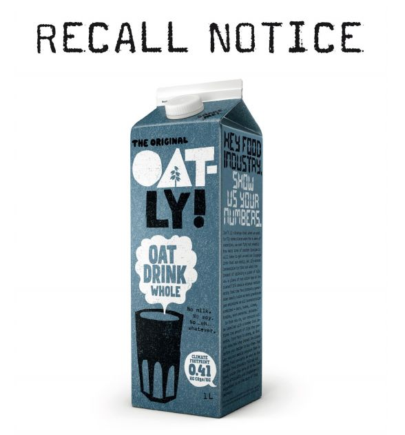 Do you buy oat milk at Tesco? this one's being recalled for safety reasons