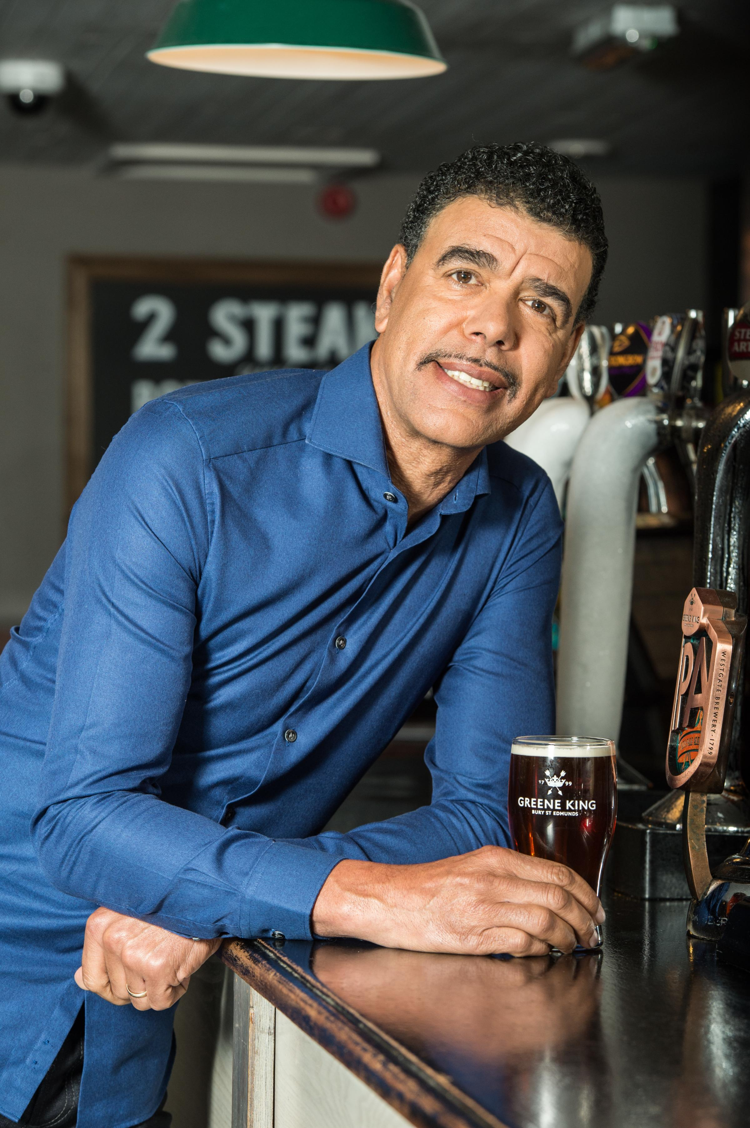 Chris Kamara. Pictured supplied by Greene King