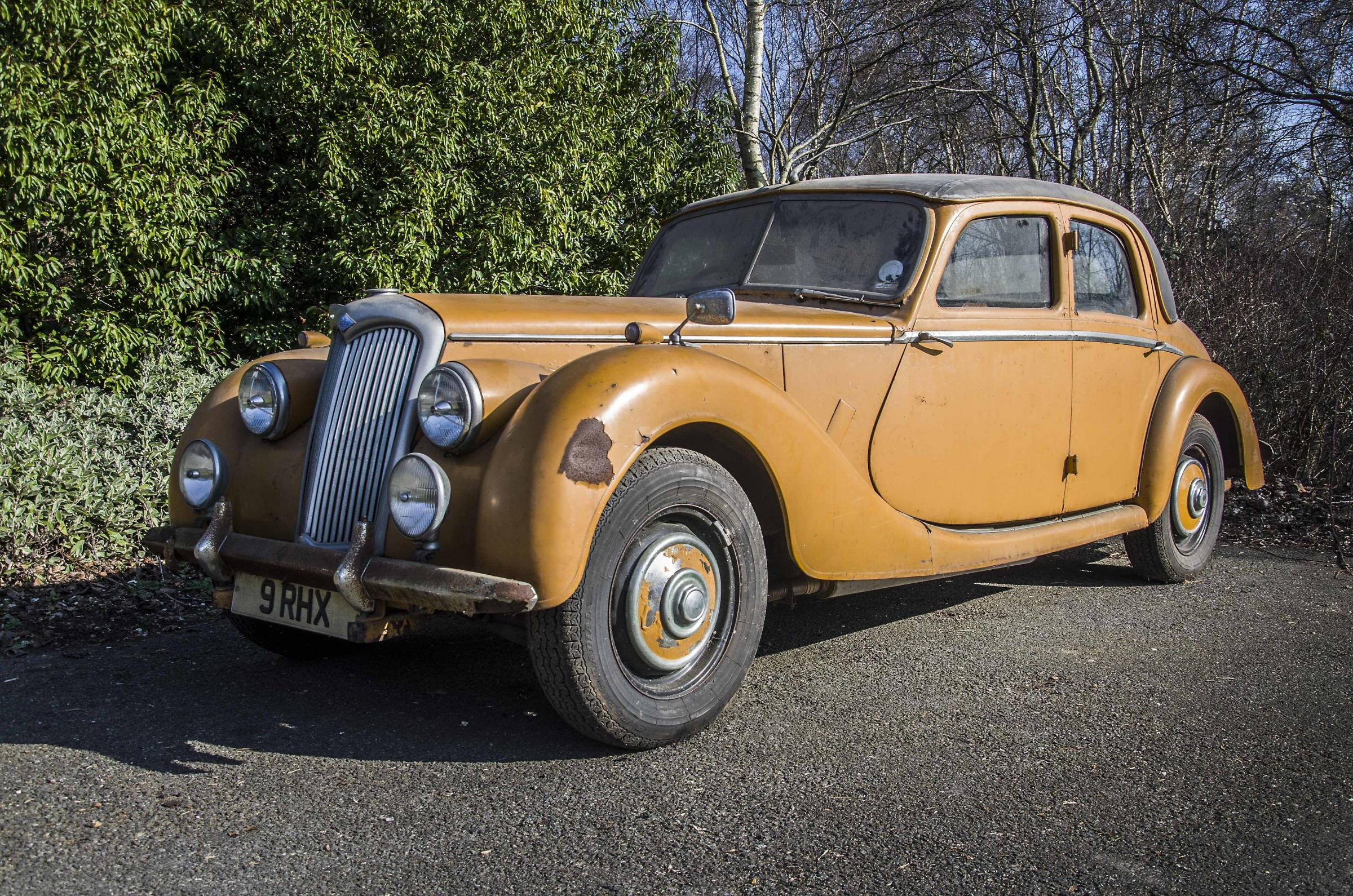 The 1953 Riley RMF being sold by Special Auction Services