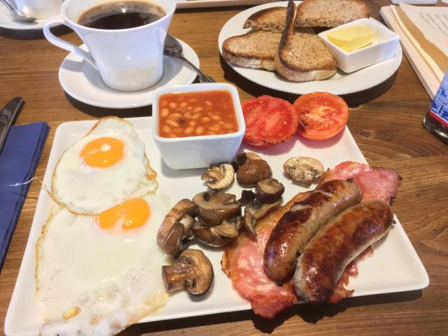The sizeable Farmhouse Breakfast at the Farmhouse Bakery & Cafe in Steventon was certainly value for money Pic: James Roberts