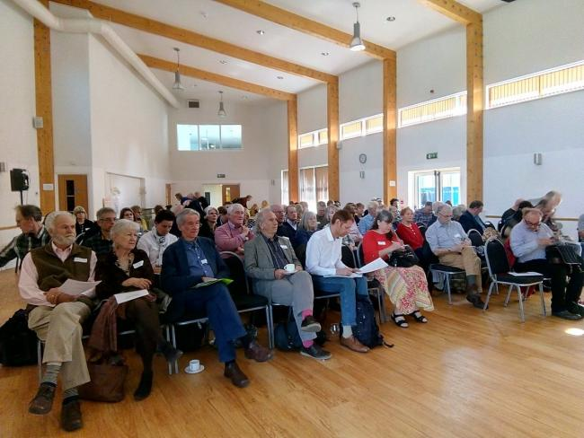 The No Expressway conference in Bicester yesterday. Picture: No Expressway Alliance