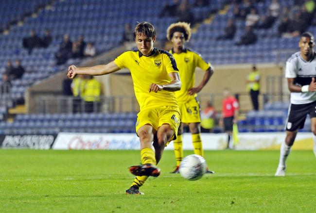 Slavi Spasov scored for Oxford United aged 16 years 226 days  Picture: David Fleming