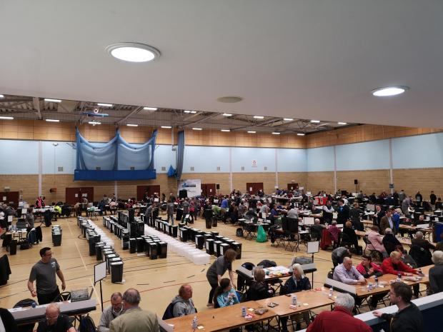 Council staff count votes at Vale and South Oxfordshire councils' counts