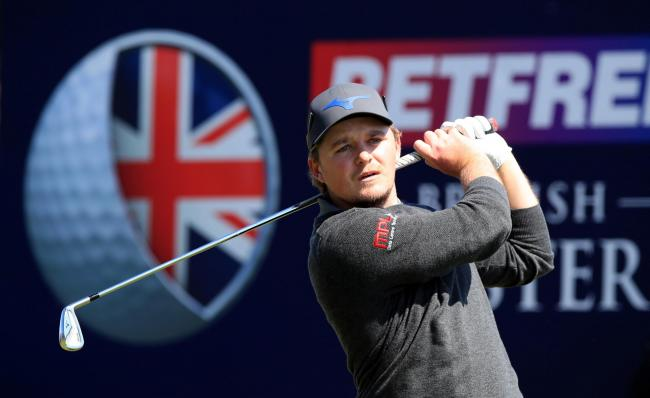Eddie Pepperell tees off at the second during day three of the Betfred British Masters Picture: Peter Byrne/PA Wire