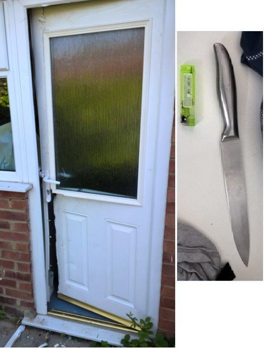 Man arrested and 'large knife' seized in Didcot drugs raid