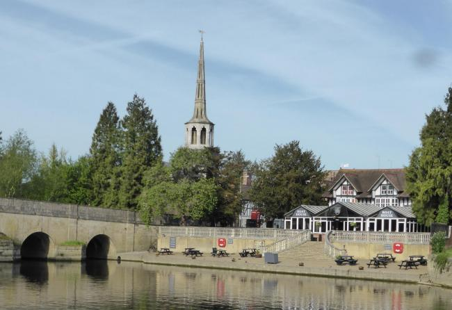 Wallingford boat restaurant on the banks of the Thames. Picture: Judy Dewey