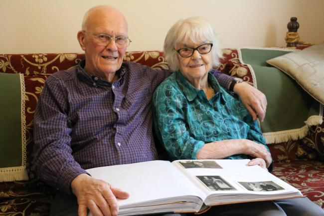 Barry and Enid Reeves, both 91, who have been married for 69 years and are taking part in NHS dementia research after Enid was diagnosed with the condition. Copyright: NIHR Clinical Research Network Thames Valley and South Midlands.