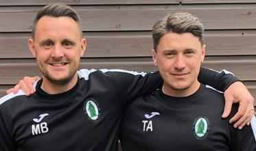 New Wantage Town managers Matt Biddle (left) and Tom Austin
