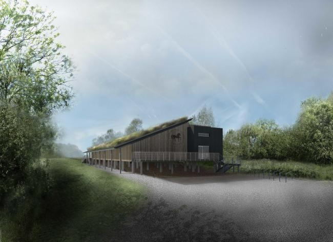 An artist's impression of what a new Headington School boathouse will look like